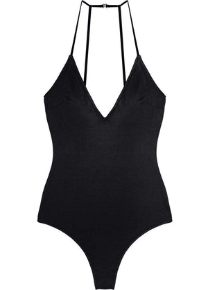 FLEUR DU MAL GLAZED STRETCH JERSEY BODYSUIT SMALL