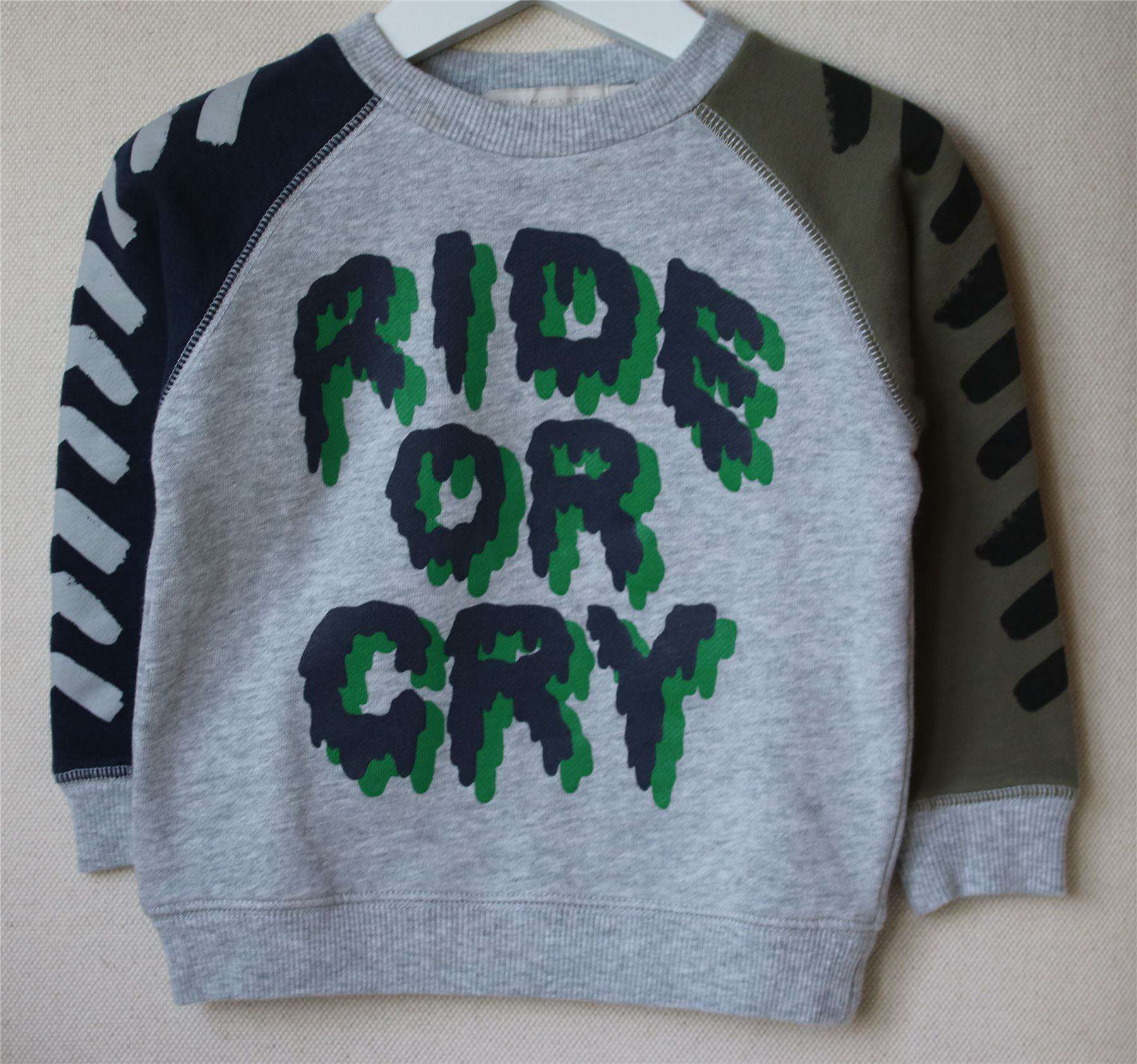STELLA MCCARTNEY KIDS BILLY RIDE OR CRY SWEATER 2 YEARS