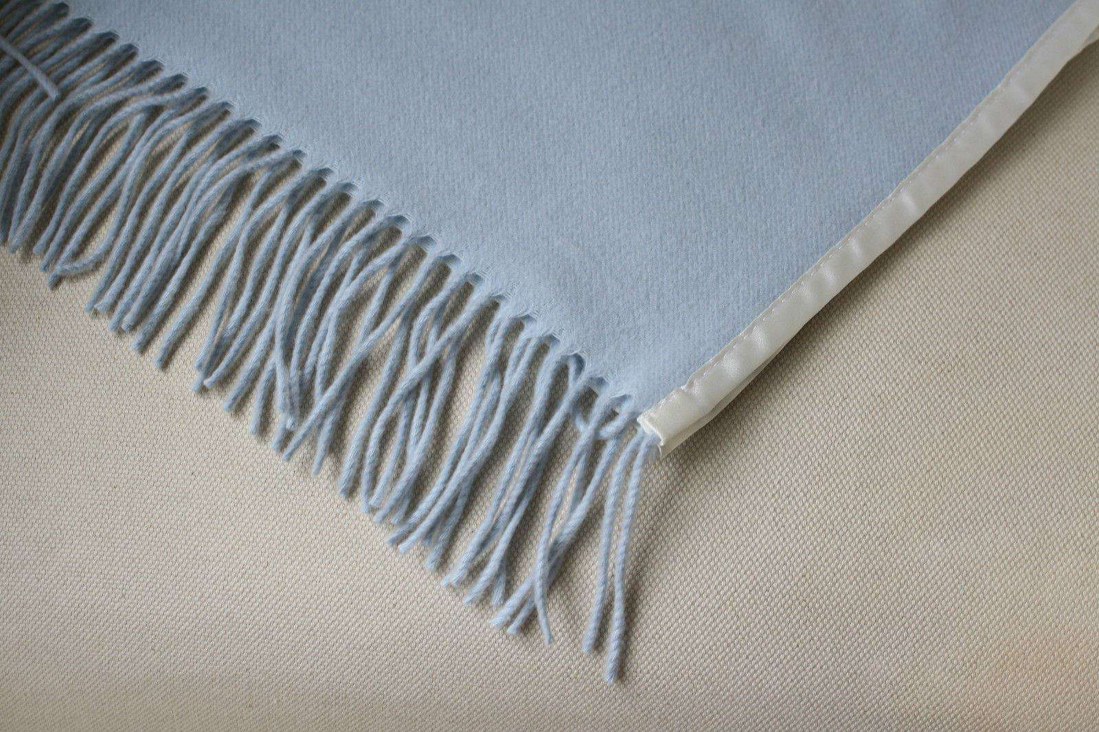 THE NURSERY WINDOW 100% CASHMERE SATIN EDGED COT BABY BLANKET