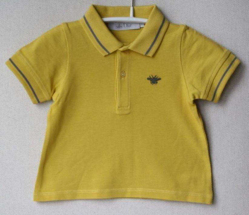 BABY DIOR YELLOW POLO SHIRT 9 MONTHS
