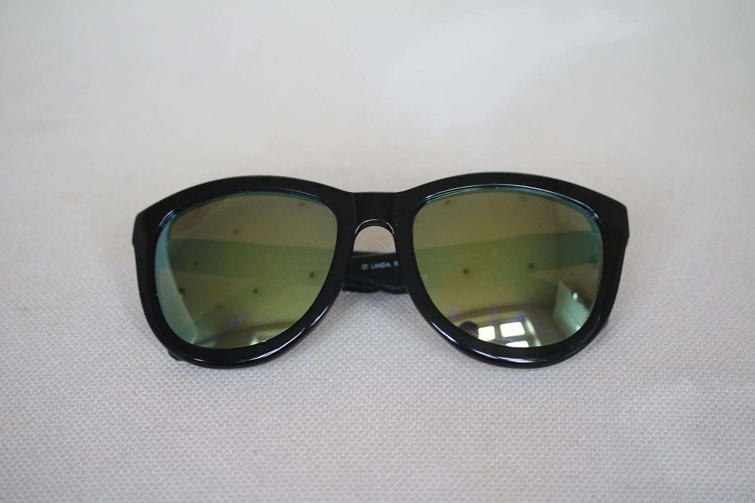 THE ROW LINDA FARROW 7 C17 D-FRAME MIRRORED SUNGLASSES