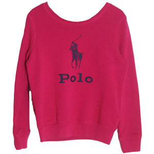 POLO RALPH LAUREN KIDS GIRLS COTTON SWEATSHIRT 6 YEARS
