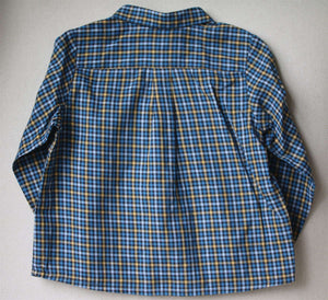 BONPOINT BABY BLUE CHECK SHIRT 2 YEARS
