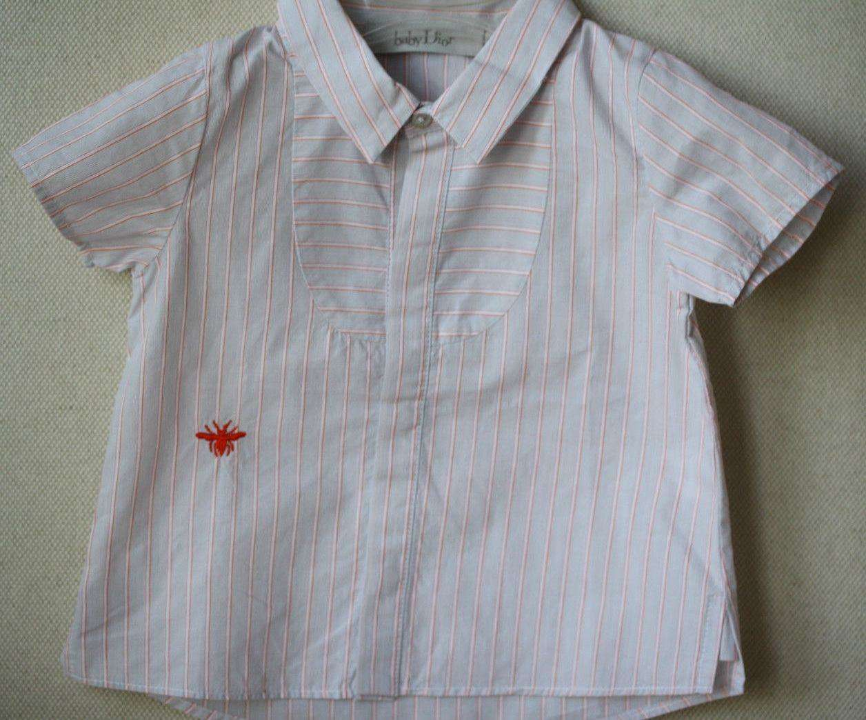 BABY DIOR STRIPED SHIRT 12 MONTHS