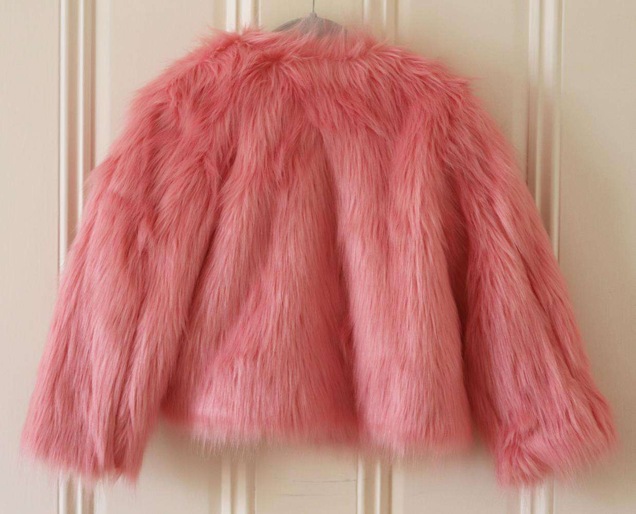 SORCI AND FOFA KIDS GIRLS FAUX FUR JACKET 5 YEARS