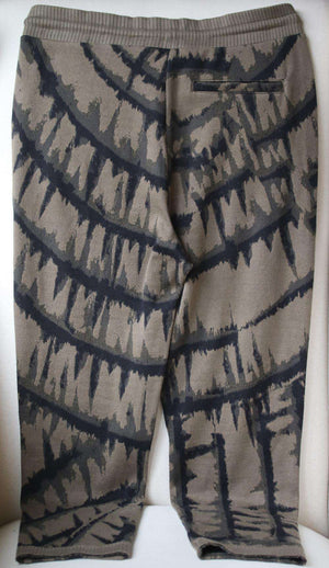 TWENTY MONTREAL HYPER REALITY CROPPED TIE DYED COTTON SWEATPANTS LARGE