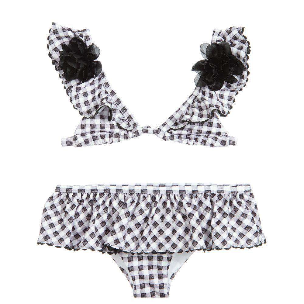 MONNALISA KIDS GIRLS GINGHAM AND ROSES BIKINI 6 YEARS