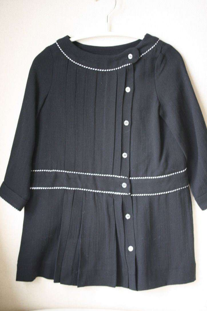 BONPOINT BABY BLUETTE BLACK DRESS 3 YEARS