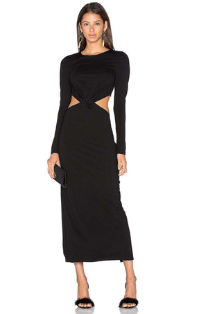 LPA 51 CUT OUT MIDI DRESS XSMALL