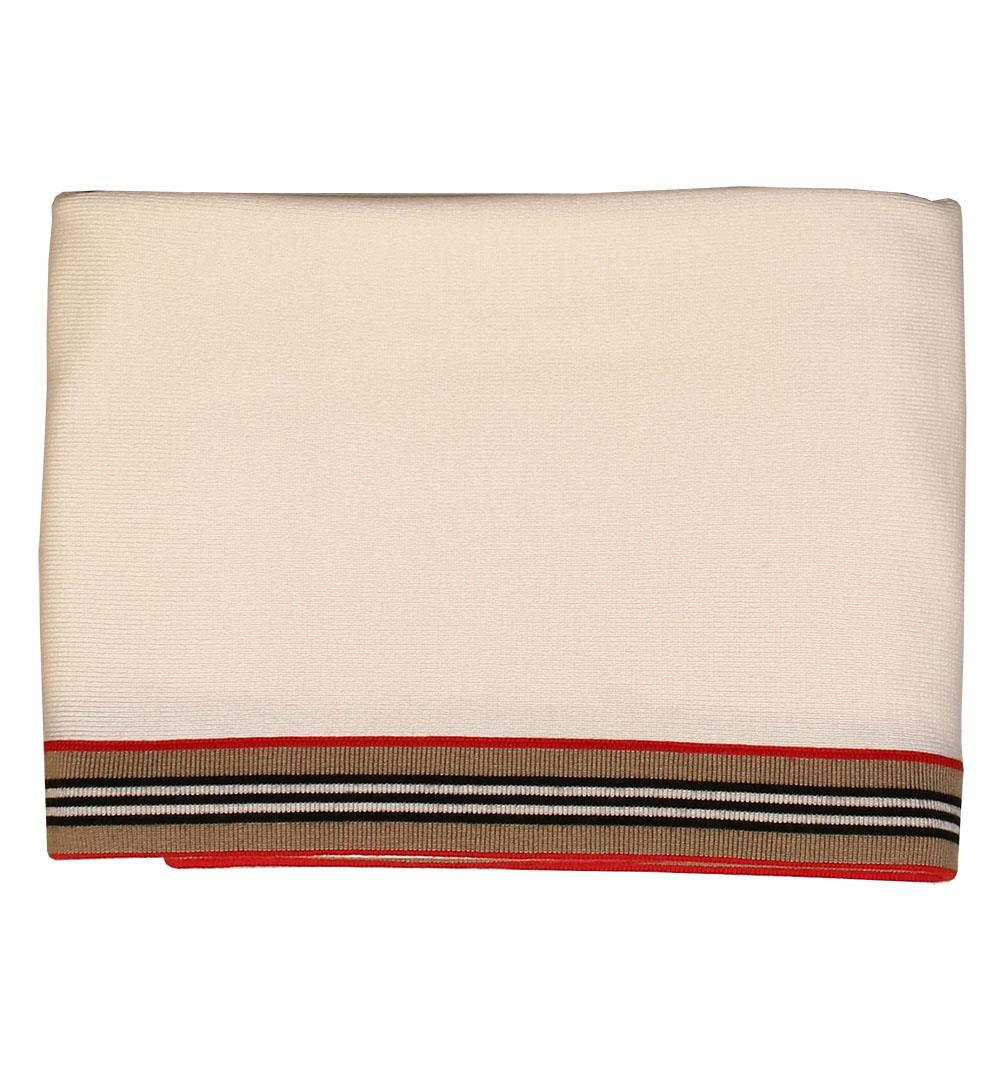 BURBERRY BABY UNISEX STRIPED WOOL BLANKET