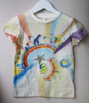 STELLA MCCARTNEY KIDS GIRLS LIZZIE WATERCOLOUR PRINT T-SHIRT 5 YEARS