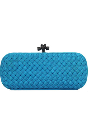 BOTTEGA VENETA THE KNOT INTRECCIATO FAILLE LONG CLUTCH
