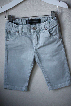 DOLCE AND GABBANA BABY GREY JEANS 3-6 MONTHS
