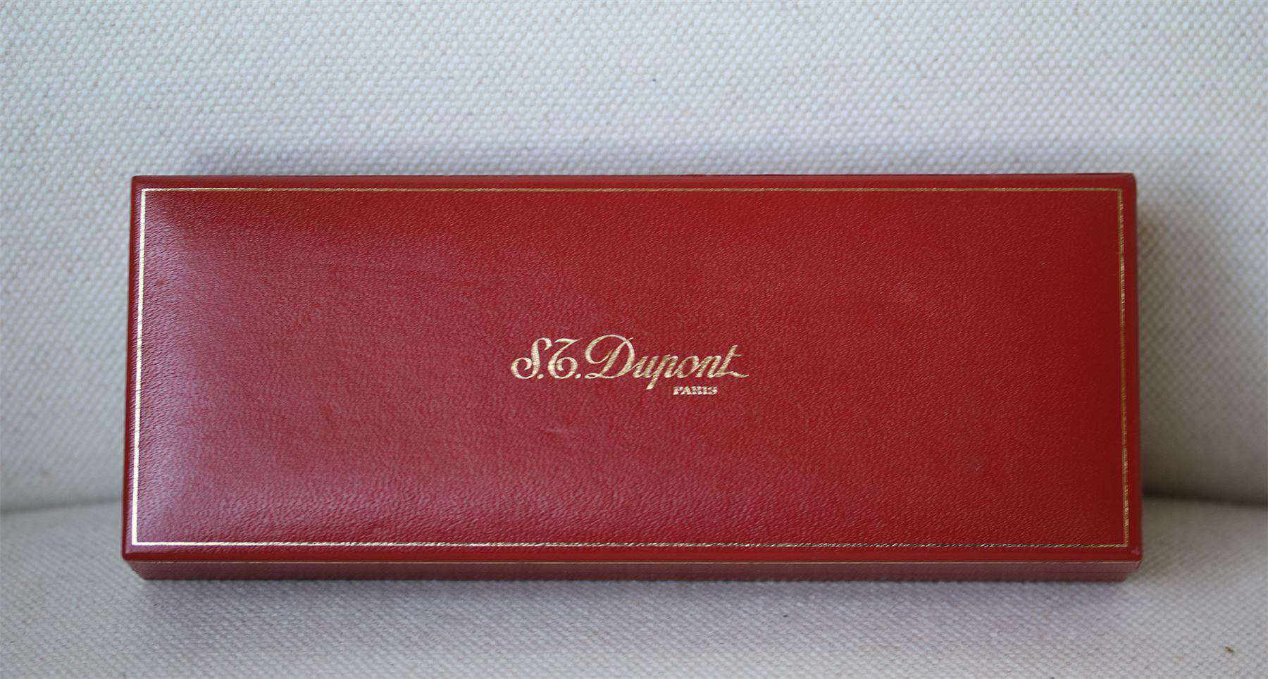S.T. DUPONT SILVER AND GOLD PLATED BALLPOINT PEN