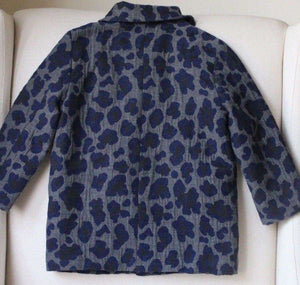 BELLEROSE GIRLS LEOPARD PRINT WOOL BLEND COAT 3 YEARS