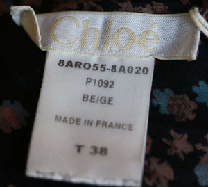 CHLOÉ FLORAL PRINT DRAPED DRESS FR 38 UK 10