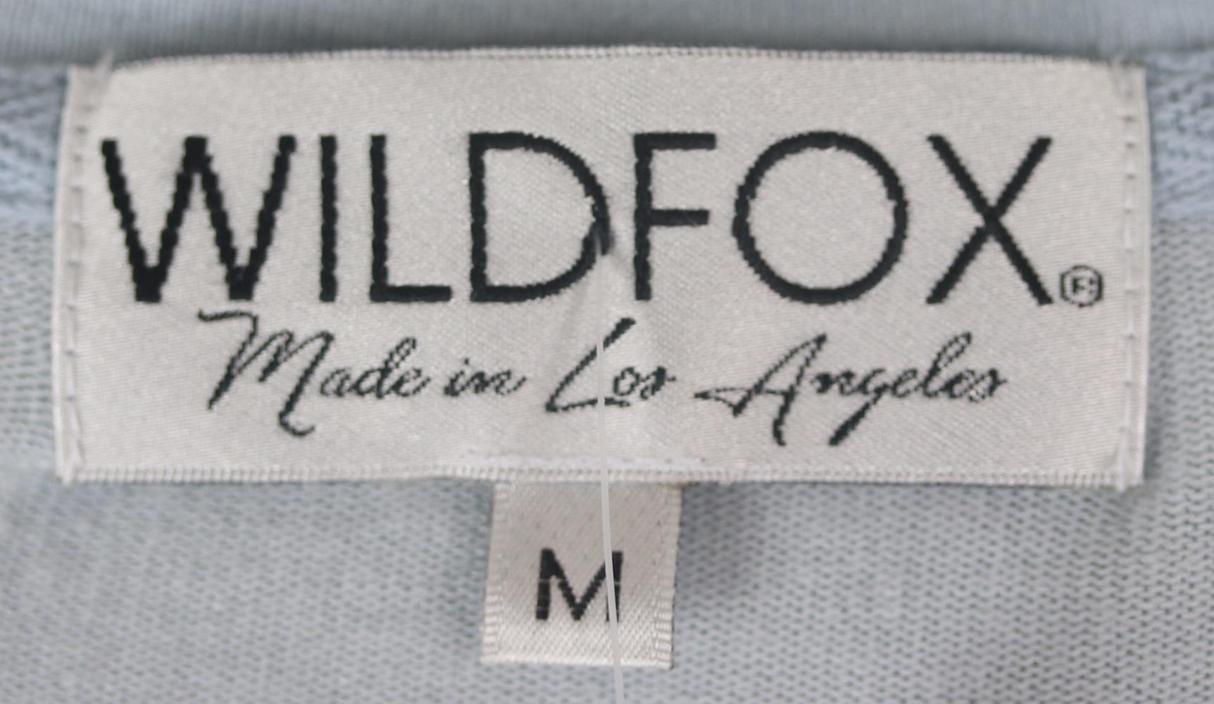 WILDFOX COUTURE PRINTED BRUSHED JERSEY SWEATSHIRT MEDIUM