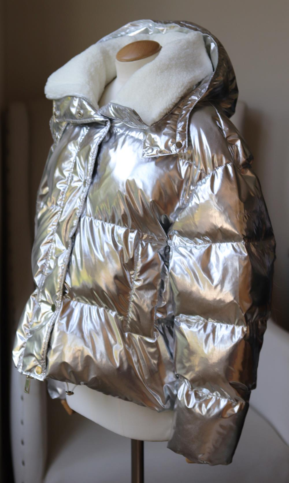 P.A.R.O.S.H. METALLIC SHELL PADDED JACKET LARGE