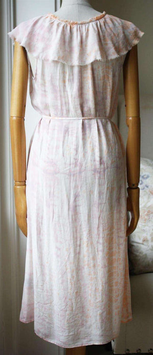 RAQUEL ALLEGRA TIE DYE SILK GEORGETTE DRESS UK 8