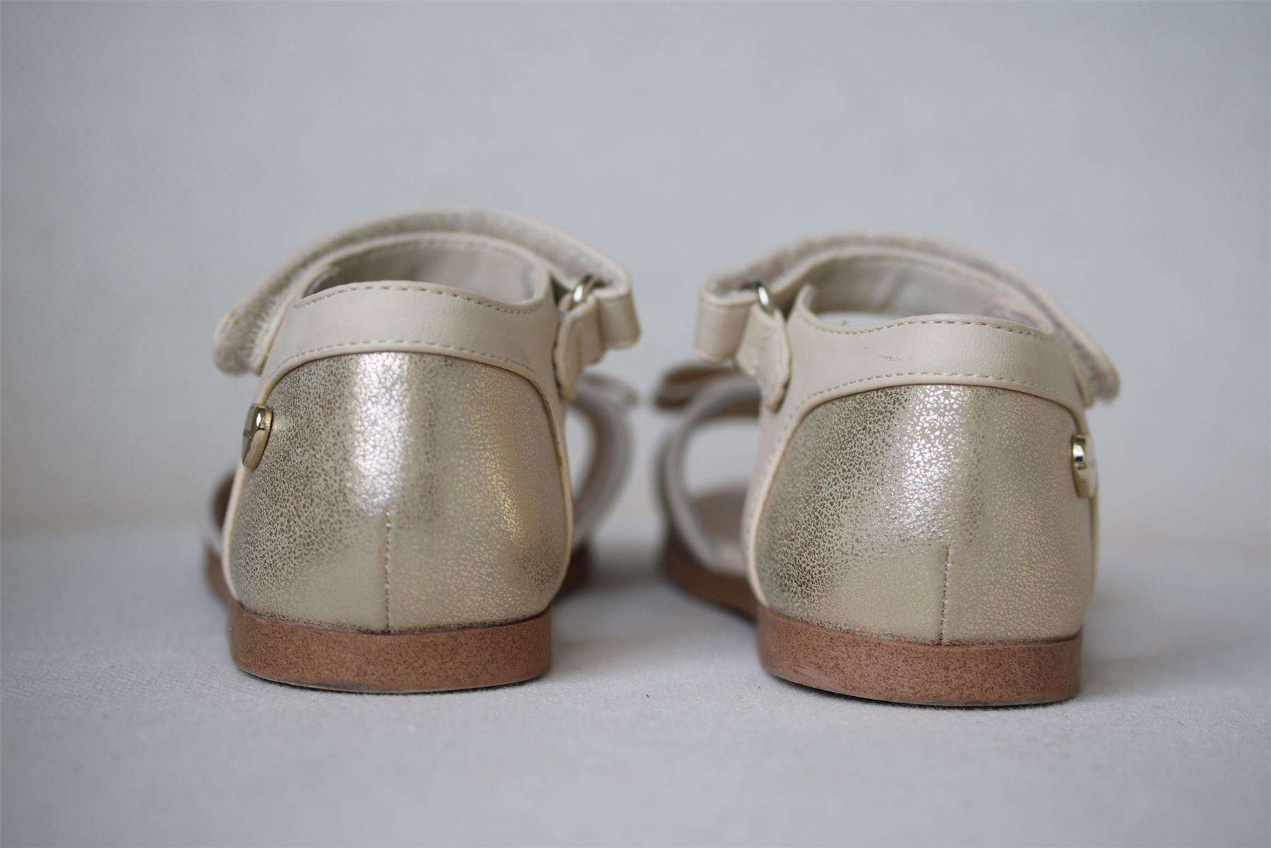 MAYORAL GIRLS GOLD BOW SANDALS EU 25 UK 7.5