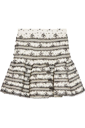 ZIMMERMANN MASTER EMBROIDERED LACE MINI SKIRT UK 10