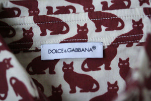 DOLCE AND GABBANA BABY RED CAT SHIRT 3-6 MONTHS