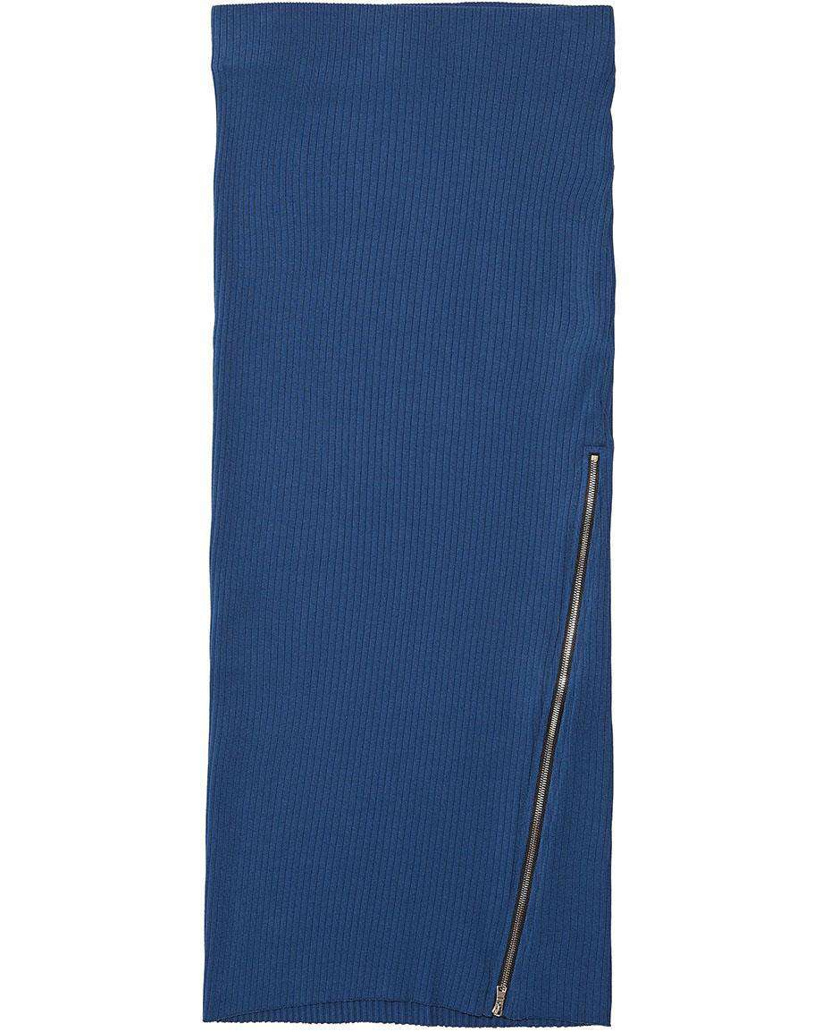 COTTON CITIZEN IBIZA RIBBED KNIT MIDI SKIRT SMALL