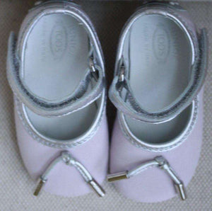 TODS BABY PINK SHOES EU 17 US 2 UK 1