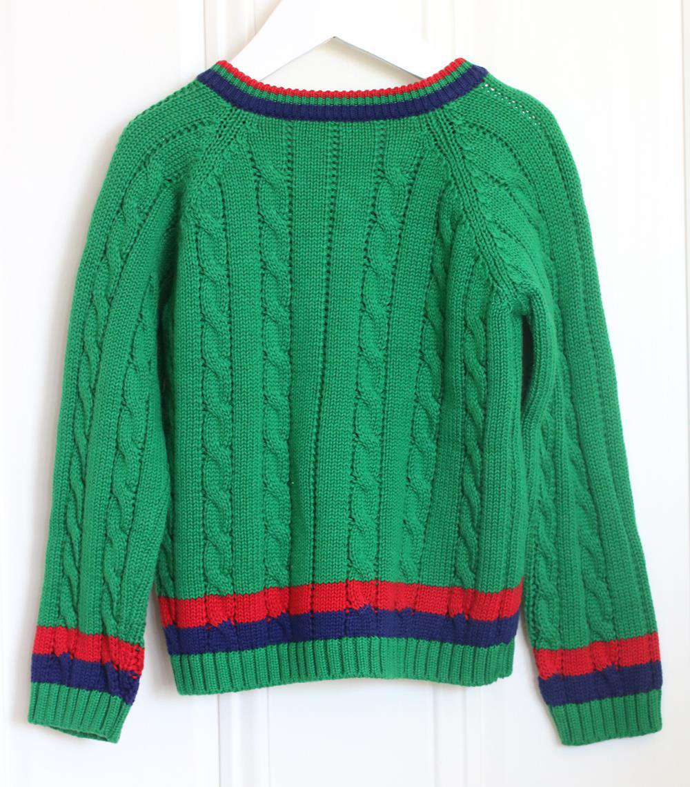GUCCI KIDS UNISEX CABLE KNIT SWEATER 36 MONTHS