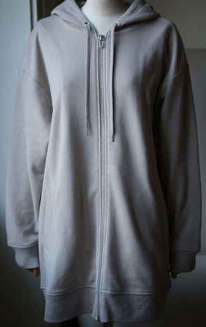 T BY ALEXANDER WANG SOFT FRENCH TERRY ZIP UP HOODIE MEDIUM