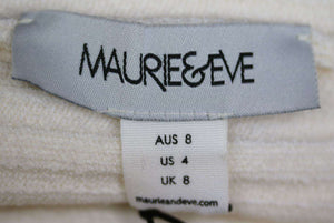 MAURIE AND EVE AVELINE RIBBED KNIT SWEATER UK 8