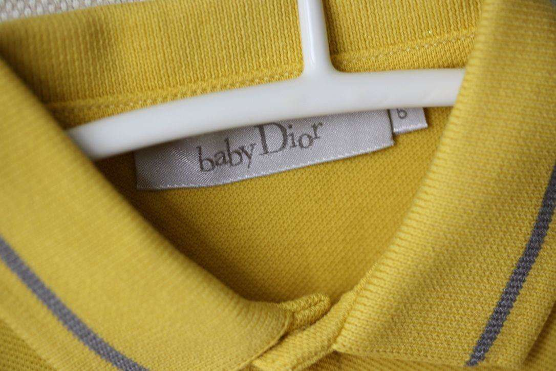 BABY DIOR YELLOW POLO SHIRT 6 MONTHS