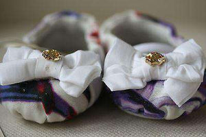 ROBERTO CAVALLI BABY EXOTIC FLOWERS PRE-WALKER SHOES 6-9 MONTHS