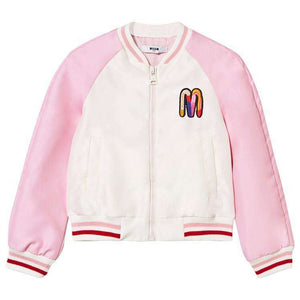 MSGM KIDS GIRLS SATIN BOMBER JACKET 4 YEARS