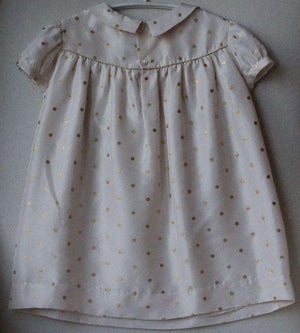 BONPOINT BABY POLKA DOT SILK DRESS 3 YEARS