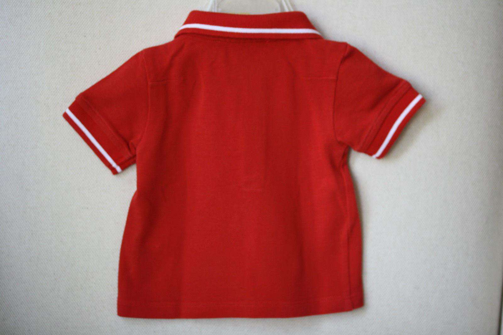 BABY DIOR RED POLO SHIRT 3 MONTHS