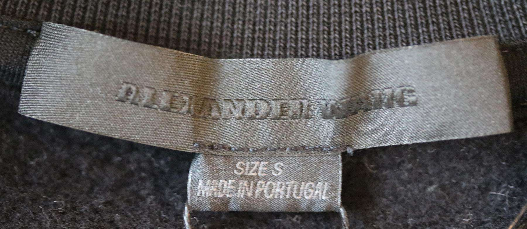 ALEXANDER WANG LOGO BARCODE COTTON SWEATSHIRT SMALL