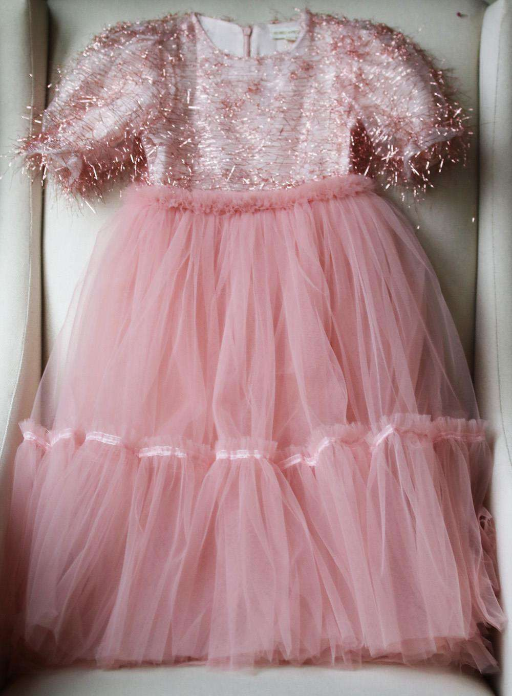 SORCI AND FOFA KIDS GIRLS SHIMMER TULLE GOWN 5 YEARS