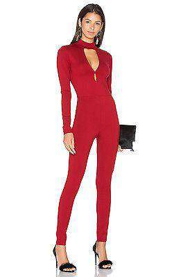 LPA JUMPSUIT 48 IN OXBLOOD LARGE