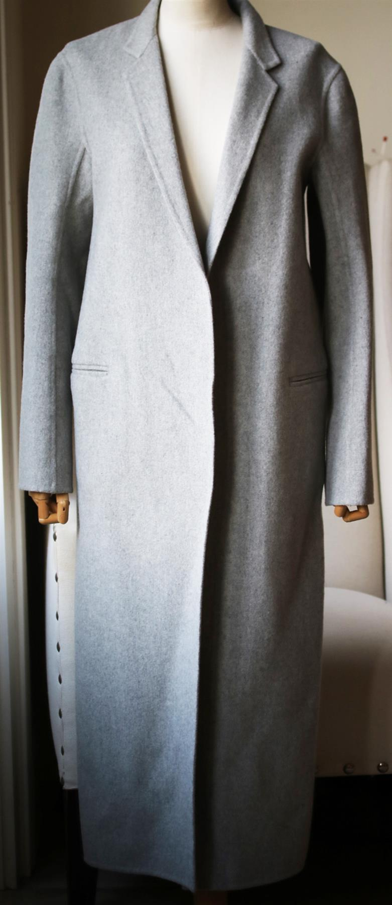ADAM LIPPES CASHMERE AND WOOL BLEND COAT US 8 UK 12