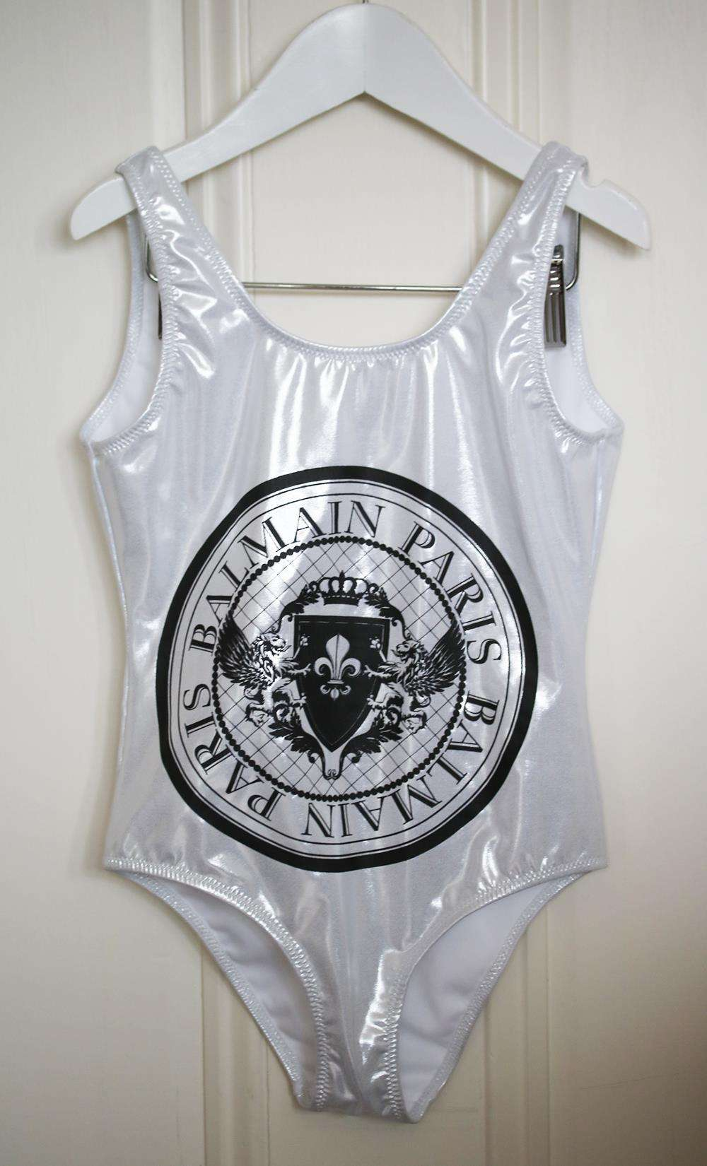 BALMAIN KIDS GIRLS PRINTED SWIMSUIT 6 YEARS