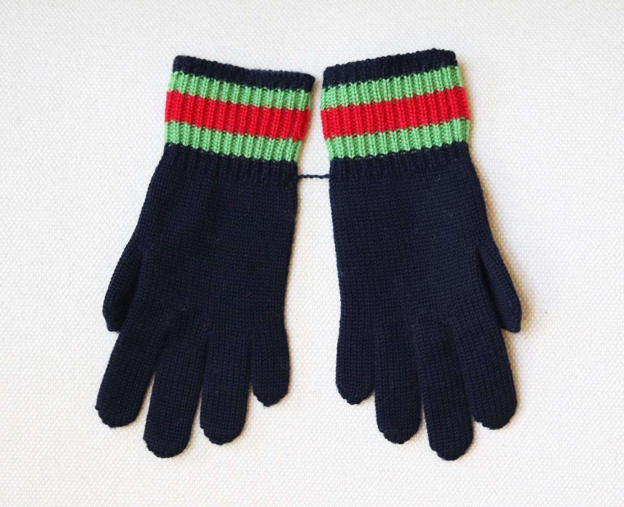 GUCCI KIDS UNISEX WOOL GLOVES SMALL