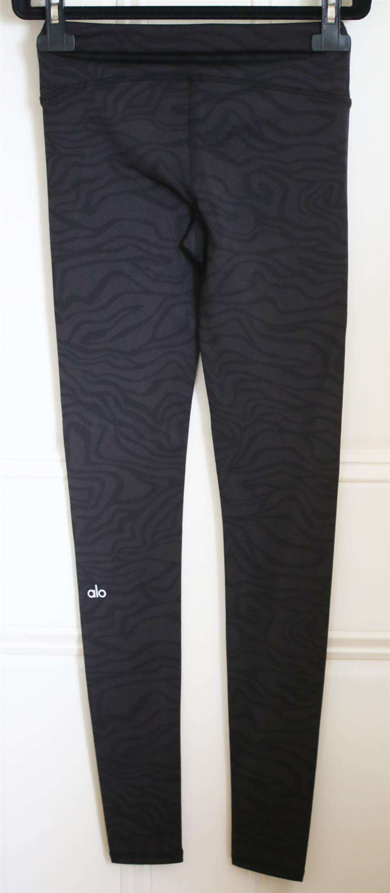 ALO YOGA AIRBRUSH PRINTED STRETCH JERSEY LEGGINGS XSMALL