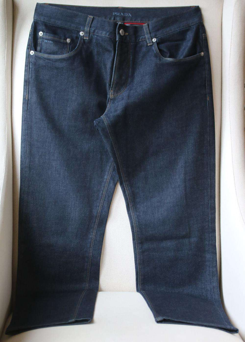 PRADA TAPERED FIT DENIM JEANS IT 48 UK/US 32