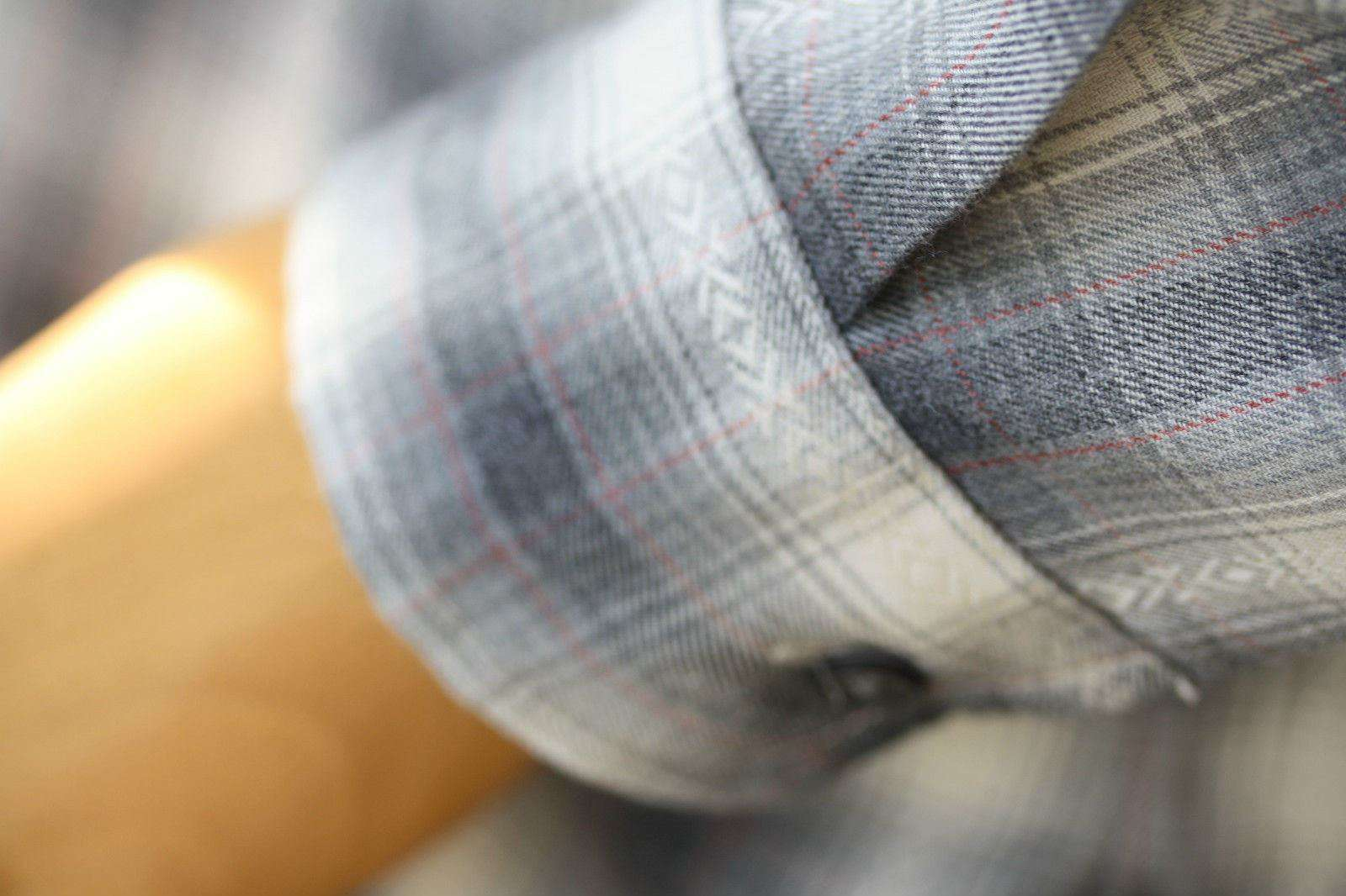 CURRENT/ELLIOTT THE PERFECT CHECK NAVAJO GREY SHIRT SMALL