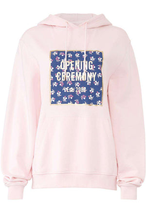 OPENING CEREMONY OVERSIZED PRINTED COTTON JERSEY HOODIE LARGE