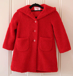 IL GUFO KIDS GIRLS FLEECE COAT 6 YEARS