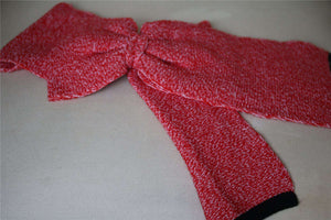 CHRISTIAN DIOR KIDS RED WOOL BLEND KNIT SCARF T2 APPROX. 2-4 YEARS