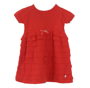 BABY DIOR BABY GIRLS RUFFLE KNITTED DRESS 6 MONTHS