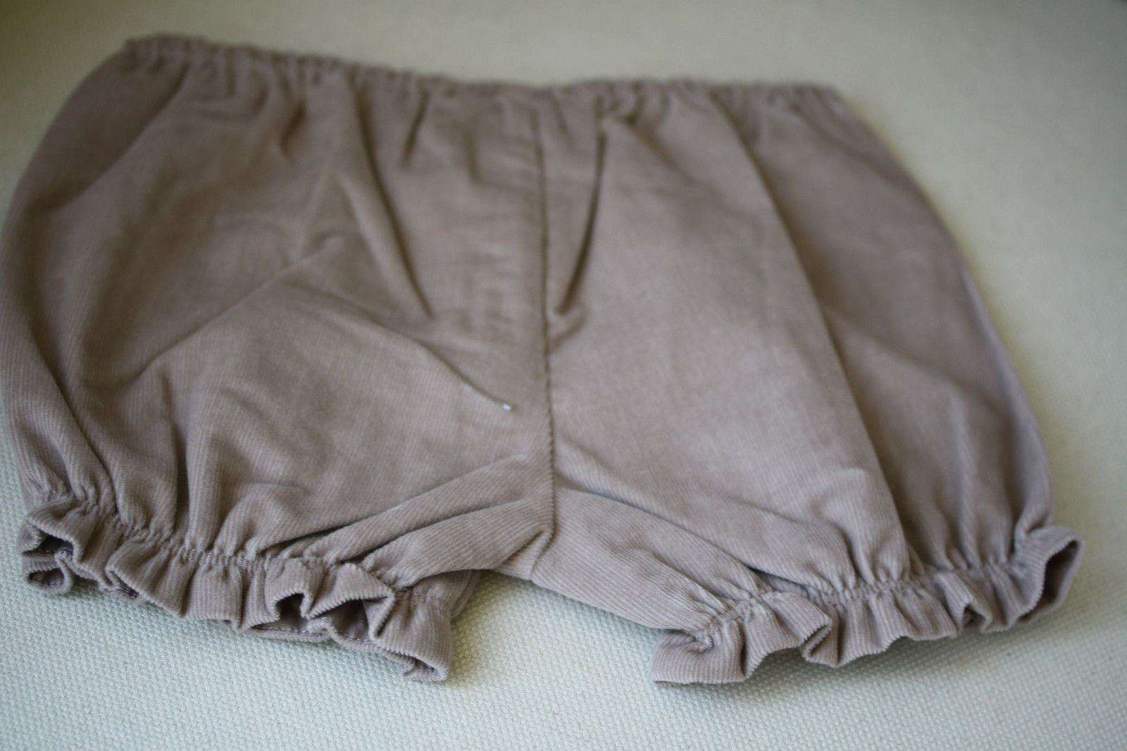 BABY DIOR TAUPE CORDUROY DRESS WITH BLOOMERS 24 MONTHS